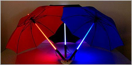 Regalos originales - Paraguas sable luz