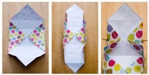 origami cajita desdoblar