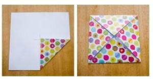 origami cajita esquinas