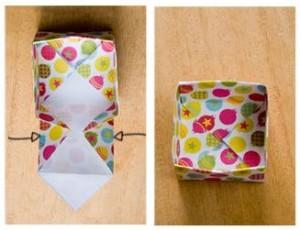 origami cajita fin