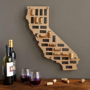 Mapa de corcho de vinos